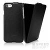 Caseual Leather Flip Apple iPhone 8/7 Italian Black bőr flip tok, fekete