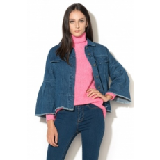 Vero Moda , Melina Farmerkabát, Sötétkék, S (10189006-MEDIUM-BLUE-DENIM-S)
