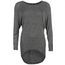 Firetrap Dropped Hem női kötött pulóver sötétszürke S