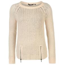 Golddigga Női cipzáras kötött pulóver bézs XS