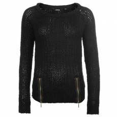 Golddigga Női cipzáras kötött pulóver fekete L