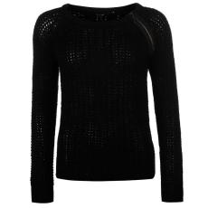 Golddigga Shoulder női cipzáras kötött pulóver fekete XS