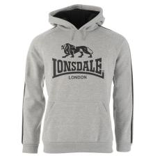 Lonsdale 2 Stripe férfi kapucnis pulóver fekete 3XL