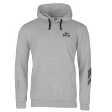 Lonsdale Sporty 2 Stripe férfi kapucnis pulóver szürke M