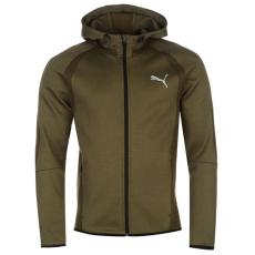 Puma EvoStripe Ultimat férfi kapucnis cipzáras pulóver barna XL