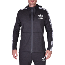 Adidas Curated Q3 Fz férfi kapucnis cipzáras pulóver fekete XXL