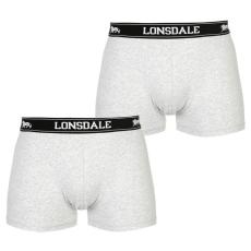 Lonsdale 2 darabos férfi boxeralsó szürke XS