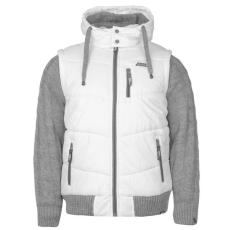 No Fear Férfi kapucnis kötött ujjú bélelt kabát fehér XS