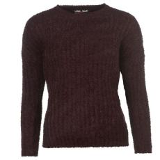 Lee Cooper Női kerek nyakú kötött pulóver bordó XXS