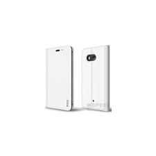 HTC U11 gyári kinyitható bőrtok, fehér tok és táska