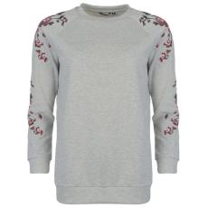 Golddigga női pulóver - szürke - Golddigga Embroidered Crew Sweater Ladies