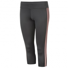Adidas 3/4 -es női nadrág - sötétszürke/pink - Adidas 3 Stripe Three Quarter Tights