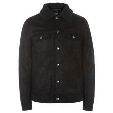 Pierre Cardin Suede férfi kabát fekete L