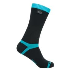 DexShell COOLVENT zokni - Fekete / Világoskék - M