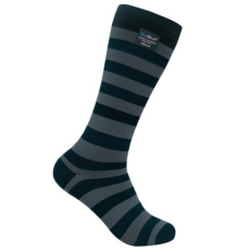 DexShell LONGLITE zokni - Fekete / Szürke - M