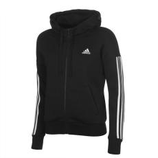 Adidas női cipzáras pulóver - adidas 3S FZ Hoodie - fekete