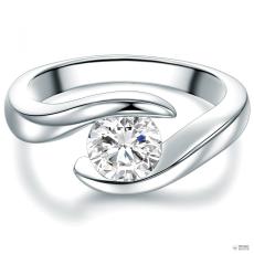 Tresor Ring Sterling Silber Zirkonia weiß Ringgröße: 54