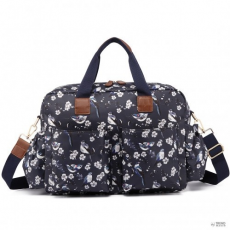 Miss Lulu London L1501-16J - Miss Lulumatternity Baby Changing táska Bird Print Navy