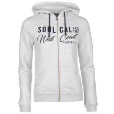 SoulCal női cipzáras kapucnis pulóver - SoulCal Deluxe 1986 Zip Hoodie - szürke