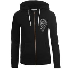 SoulCal női cipzáras kapucnis pulóver - SoulCal Deluxe Hoodie - fekete