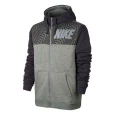 Nike Graphic FZ férfi kapucnis cipzáras pulóver szürke M