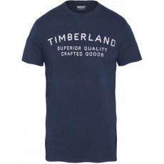 TIMBERLAND SS Kennebec River Back Graphic Lived-in Tee Póló,trikó D (A1OL1-r_433-Dark Sapphire)