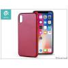 Devia Apple iPhone X hátlap - Devia Ceo 2 - red