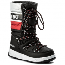 Moon Boot Hótaposó MOON BOOT - We Quilted Jr Wp 34051500001 Nero/Rosso/Ar