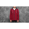 Vans Lopes Buttondown Flannel Hoodie Chilli Pepper/ Black