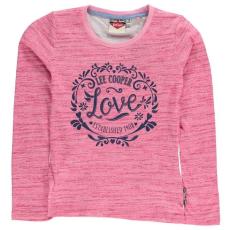 Lee Cooper gyerek hosszú ujjú felső - pink - Lee Cooper Girls Long Sleeve Tshirt
