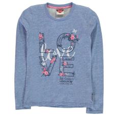 Lee Cooper gyerek hosszú ujjú felső - világos kék - Lee Cooper Girls Long Sleeve Tshirt