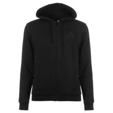 Adidas 3 Stripe férfi kapucnis cipzáras pulóver fekete M