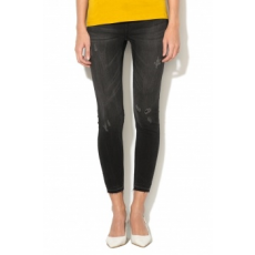 JDY , Skinny Crop Farmernadrág, Fekete, W30-L34 (15140337-DARK-GREY-DENIM-W30-L34)