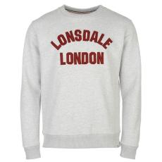 Lonsdale HTG férfi kerek nyakú pulóver szürke M