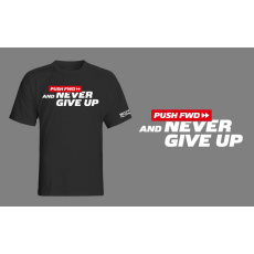 Scitec Nutrition Pushfwd Never Give Up póló - fekete