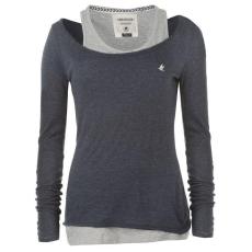 SoulCal női felső - SoulCal Double Layer Long Sleeve T Shirt - sötétkék/szürke