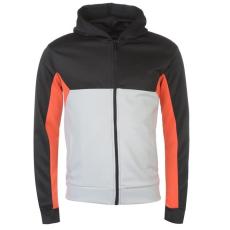 Pierre Cardin férfi cipzáras pulóver Full Zip , fekete/ezüst - Pierre Cardin Full Zip Hoodie Mens