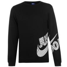 Nike Fleece Graphic férfi kerek nyakú pulóver fekete L