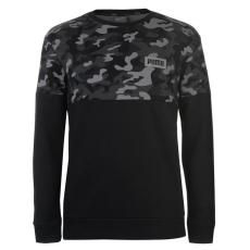Puma AOP férfi kerek nyakú pulóver fekete M