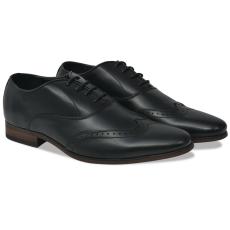 vidaXL Férfi fűzős alkalmi félcipő fekete 43-mas méret PU bőr