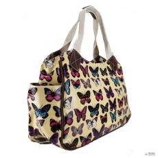 Miss Lulu London L1105B - Miss Lulu Oilcloth bevásárló táska táska pillangó