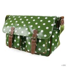 Miss Lulu London L1107D2 - Miss Lulu Oilcloth táska Polka Dot zöld