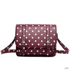 Miss Lulu London L1119D - Miss Lulu Medium táska Polka Dot lila