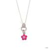 scout Gyerek nyaklánc ékszer Lánc ezüst Blume rózsaszín gyerek Mädchen 261066200