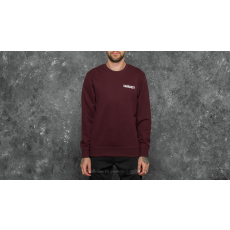 Carhartt WIP College Script Sweat Damson/ White