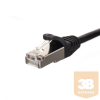 Netrack patch cable RJ45; snagless boot; Cat 5e FTP; 0.25m black