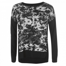 Rock and Rags Printed Front Sweater