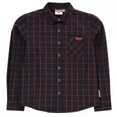 Lee Cooper rövid ujjú Fashion Check Shirt gyerek fiú