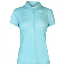 Nike Flash rövid ujjú galléros póló női