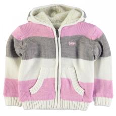 Lee Cooper csíkos kötött kapucnis pulóver kislány